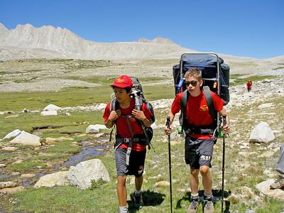 8/16/2010 - Mt. Whitney Hike Day 3 : Shepherd Pass & Tyndall Creek