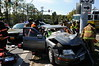 10/13/2010 Accident 235 and Hermanville with fly out : Investigation revealed a Mercury Mountaineer failed to yield the right of way and struck the silver Lexus resulting in the driver of the Lexus to be flown out. 