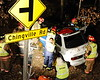 12/8/2010 Chingville Accident with Fly Out : On December 8, 2010 at 2354 hours the Valley Lee and Bay District Volunteers were alerted with numerous EMS units to the intersection of Point Lookout Road and Chingville Road for the MVA with Entrapment. Initial reports were that there was nobody in the vehicle however when the police arrived they found a subject trapped. Chief 6, Rescue Engine 62 and Squad 3 all responded at dispatch and Chief 6 arrived on the scene at 2359 hours confirming one trapped and after a quick assessment he requested a Helicopter Category A Priority 1 and established the Command. Rescue Engine 62 and Squad 3 arrived at 0002 hours and the crews went to work, Engine 62 pulled the protection line and secured Power to the vehicle and Squad 3 stabilized the vehicle and started extricating the patient. Squad 3 along with Rescue Engine 62 removed the Driver's Door and initially did a Roof Flap but then later removed the Roof of the vehicle for better patient access. The Extrication of the patient was completed the extrication 15 minutes after arrival and the patient was packaged and then transported to the Landing Zone where Engine 61 was setup with Trooper 7. Squad 3 returned to quarters at 0047 hours.