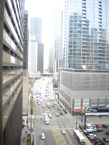 One of the many views from the Doubletree in Chicago.
