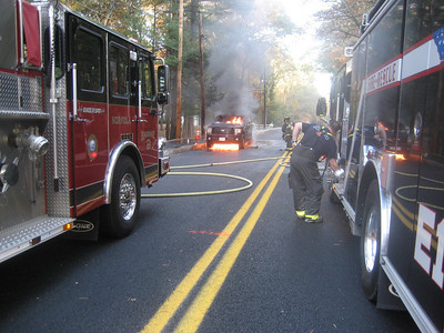 Pine Street, Norfolk - Truck Fire: October 23, 2010
