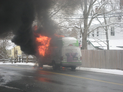 Pleasant Street, Millis - Vehicle Fire: December 23, 2010