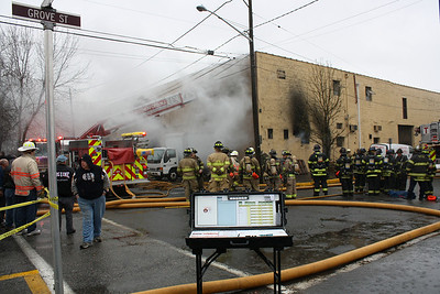 East Rutherford 3rd alarm 2 story warehouse Herman & Grove 3-30-10