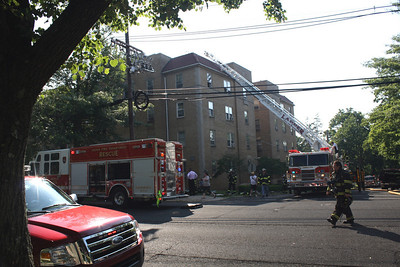 Photo's from Leonia 2nd alarm Christie St. & Board Ave. 4 story Apt. Building 5-26-10
