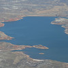 Lake Meredith is much lower and smaller than normal due to a significant drought in this area.