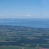 Lake Michigan, on the way from Green Bay to Milwaukee.  I think those are low clouds on the lake.