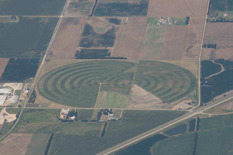 Center Pivot patterns North of Wichita
