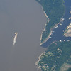 Mississippi River at Greenville MS.  Check out the water color difference between the river and the backwater dock areas.