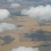 Oklahoma farmland, clouds, and cloud shadows