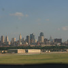 Downtown Kansas City, viewed from just above the runway at the Downtown Airport.  Photo by Connie