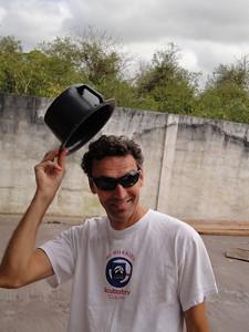 Cajun magician pulls a crawdad out of his hat.