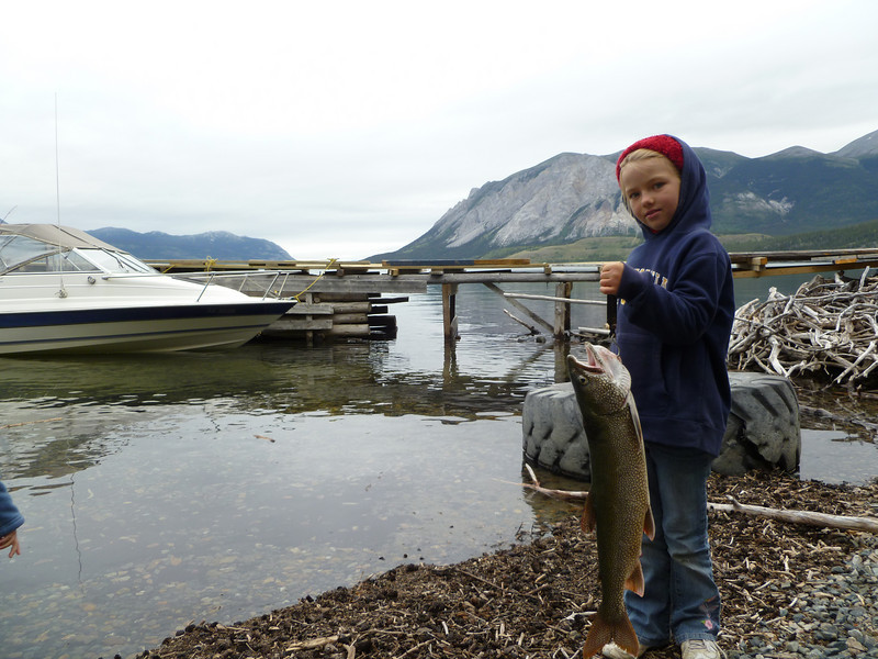 Tessa and her lake trout.