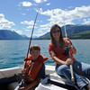 Fishing for lake trout.