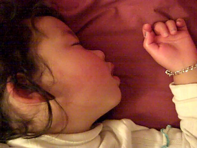 February 10, 2010: Eliana Sleeping Like a Baby