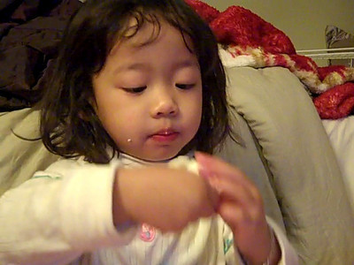 February 10, 2010: Eliana Eating Eggs