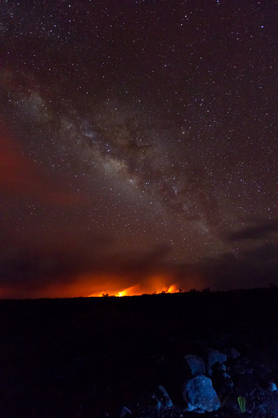 The lava flow was pretty underwhelming but the great view of the Milky Way saved my day.