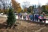 2010, Bradford School, Tree dedication, VP Jack Shannon