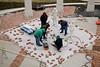 2010, CART, George Segal Street Crossings, installation, campus