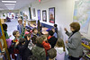 2010, library, staff, Bradford School students visiting Sprague Library
