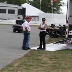 Pro Stock Motorcycle Pits : copyright SpeedZone Magazine (no use without prior authorization)