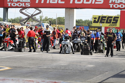 Pro Stock Motorcycle Staging Lanes