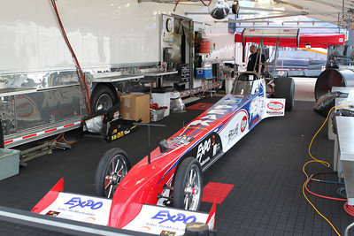 Top Fuel Dragster Pits