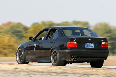HPDE #7 BMW E36 M3 Saloon in action @ Putnam Park, October 2010