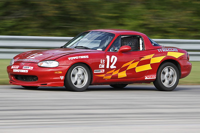 Spec Miata #12 in action @ Autobahn Country Club, September 2010