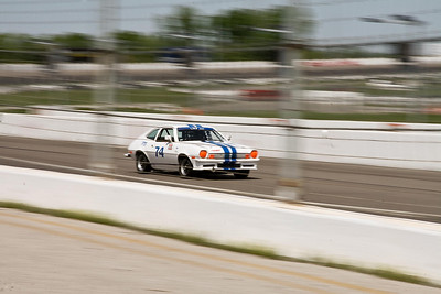 Thomas Laird's NASA Performance Touring Class (PTF) Ford Pinto at speed on the front straight at GIR, April 2010