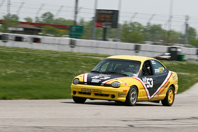 Scott Rhea's NASA Performance Touring (PTF) Dodge Neon in action at GIR, April 2010