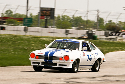 Thomas Laird's NASA Performance Touring Class (PTF) Ford Pinto in action on the road course at GIR, April 2010