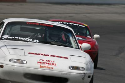 NASA Midwest Region Spec Miata racing action at Gateway International Raceway, April 2010