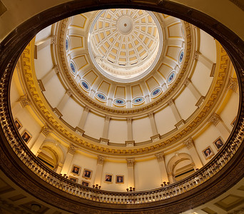 Colorado State Capitol Dome - from the 2nd floor 2 image stitch of 5 exposure blends each - 10 images total