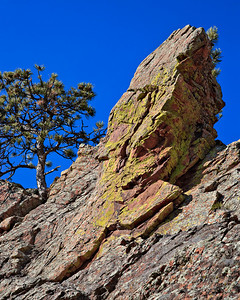 Flatirons on Mt. Sanitas trail, Boulder, CO Fountain Formation sandstone, Pennsylvanian