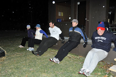 """Shaping Up Outdoors An early morning fitness """"boot camp"""" has been held at the Woodstock Racquet and Fitness Center. Tim Gould Photos"""