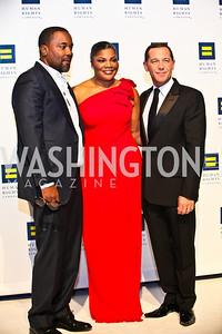 Photo by Tony Powell. Director Lee Daniels, Mo'Nique, Joe Salmonese. 14th Annual HRC Dinner. October 9, 2010