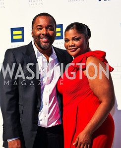 Photo by Tony Powell. Director Lee Daniels, Mo'Nique. 14th Annual HRC Dinner. October 9, 2010