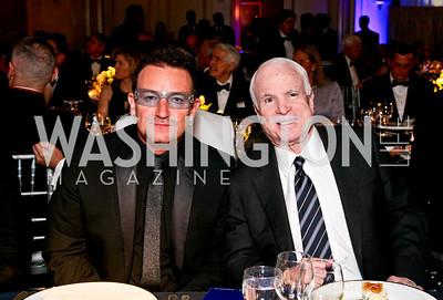 Bono, John McCain. Photo by Tony Powell. Atlantic Council 2010 Annual Awards Dinner. Ritz Carlton. April 28, 2010