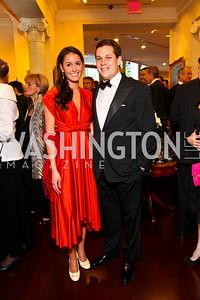 Alexandra McNair, Justin Fishkin. Photo by Tony Powell. Atlantic Council 2010 Annual Awards Dinner. Ritz Carlton. April 28, 2010