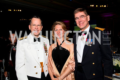 Admiral Mike Mullen, Michaela Abrial, General Stefan Abrial. Photo by Tony Powell. Atlantic Council 2010 Annual Awards Dinner. Ritz Carlton. April 28, 2010