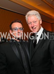 Bono, Bill Clinton. Photo by Tony Powell. Atlantic Council 2010 Annual Awards Dinner. Ritz Carlton. April 28, 2010