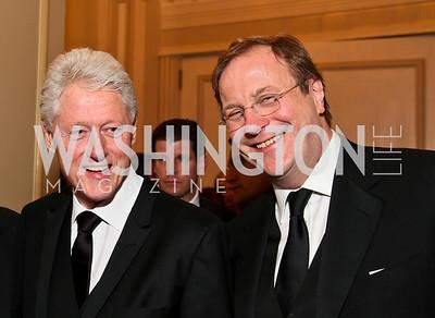 Bill Clinton, Fred Kempe. Photo by Tony Powell. Atlantic Council 2010 Annual Awards Dinner. Ritz Carlton. April 28, 2010