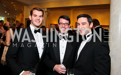 Joe Whited, Chris Lombardi, Damon Wilson. Photo by Tony Powell. Atlantic Council 2010 Annual Awards Dinner. Ritz Carlton. April 28, 2010