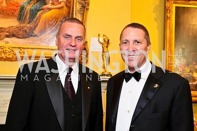 Jim Jones, Joe Robert. Photo by Tony Powell. Atlantic Council 2010 Annual Awards Dinner. Ritz Carlton. April 28, 2010