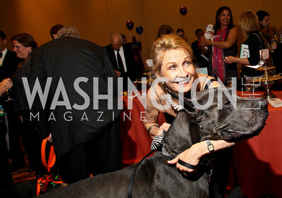 Photo by Tony Powell. The Washington Humane Society Bark Ball. Hilton Hotel. June 5, 2010. Barbara DeMontille and Peyton