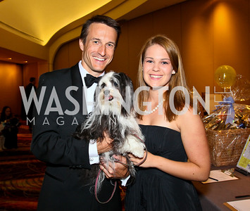 Photo by Tony Powell. The Washington Humane Society Bark Ball. Hilton Hotel. June 5, 2010. Paul and Kelsey Brown with Georgia