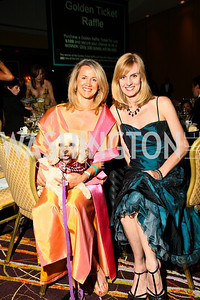 Photo by Tony Powell. The Washington Humane Society Bark Ball. Hilton Hotel. June 5, 2010. Robin Waugh, Amy Dorcy, and Scruffy