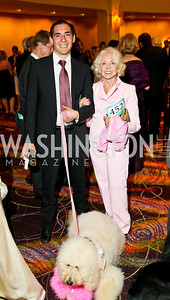 Photo by Tony Powell. The Washington Humane Society Bark Ball. Hilton Hotel. June 5, 2010. Alex Lopez, Lulu Auger, and Nina