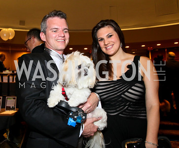 Photo by Tony Powell. The Washington Humane Society Bark Ball. Hilton Hotel. June 5, 2010. Eduardo Maranhao, Lauren Johnson, and Dolce