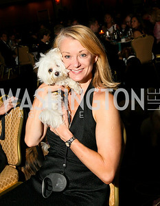 Photo by Tony Powell. The Washington Humane Society Bark Ball. Hilton Hotel. June 5, 2010. Anna McCollister with Buckley